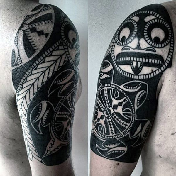 Artistic Mens Half Sleeve Tribal Tattoo Ideas