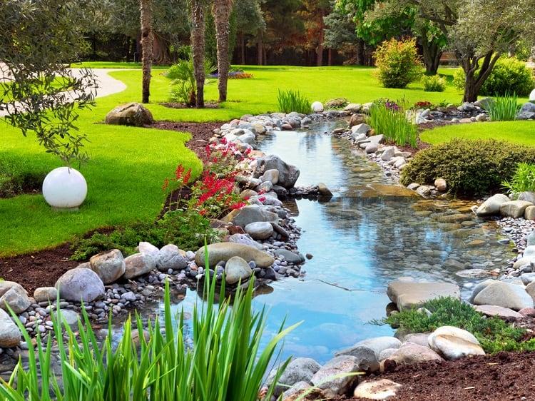 Asian Garden Backyard Pond Landscaping