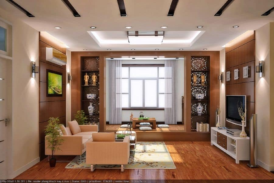Asian Living Room Decorating Ideas 1