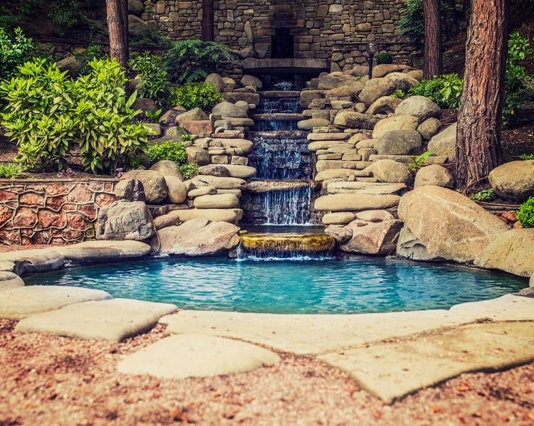 Asian Style Backyard Waterfall