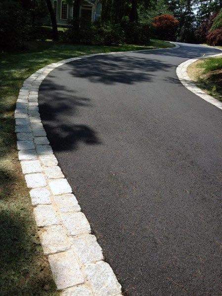Asphalt Driveway Edging Ideas Natural Stone