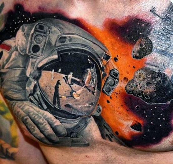100 Astronaut Tattoo Designs For Men