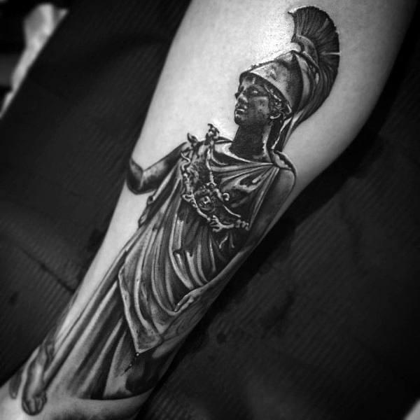 60 Athena Tattoo Designs For Men Ancient Greek Goddess Ideas
