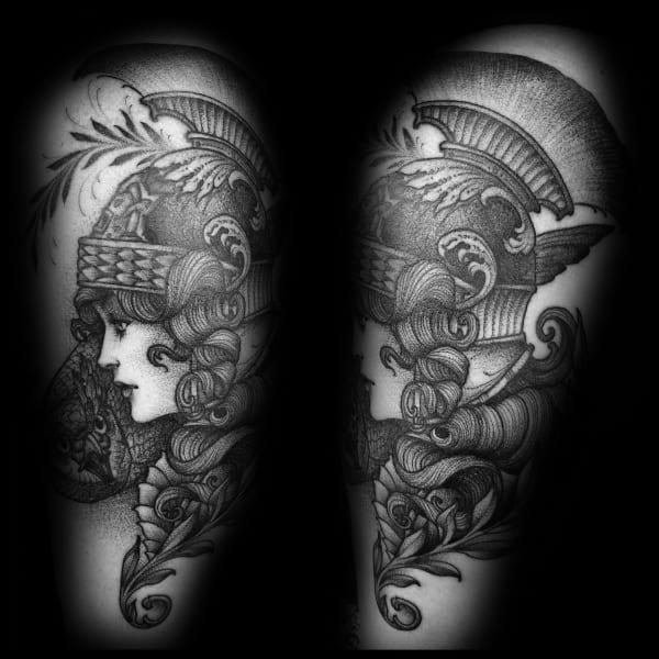 Athena Tattoo Design Ideas For Men