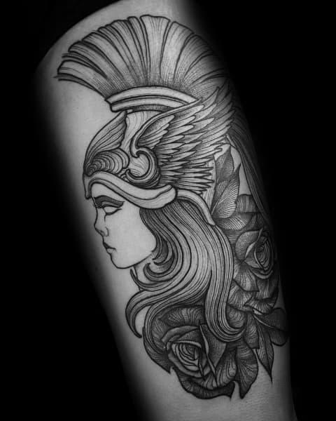 Athena Tattoo Designs For Gentlemen