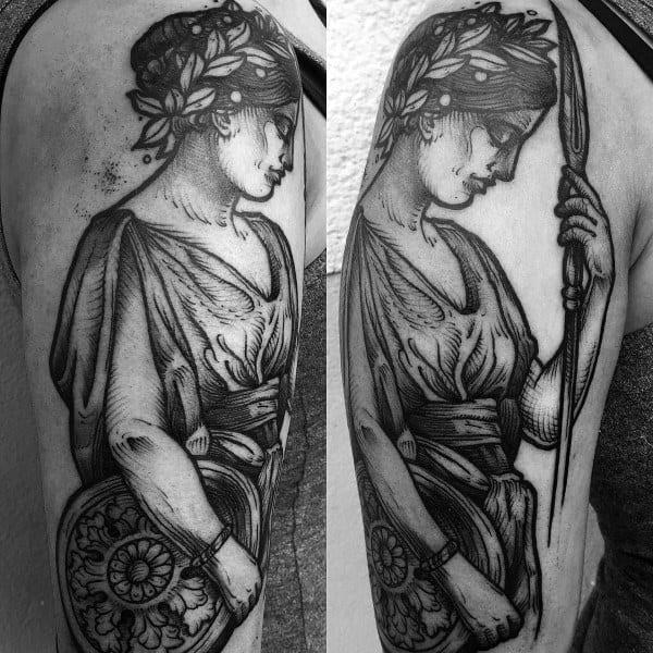 Athena Tattoo Designs On Men