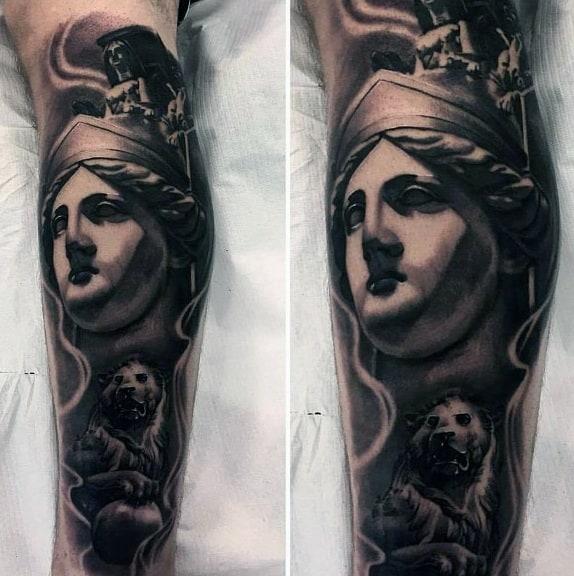 Athena Tattoo For Guys