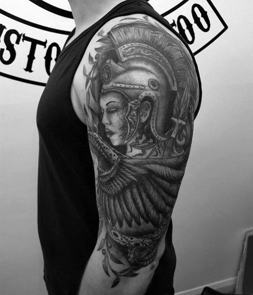 Athena Tattoo For Males