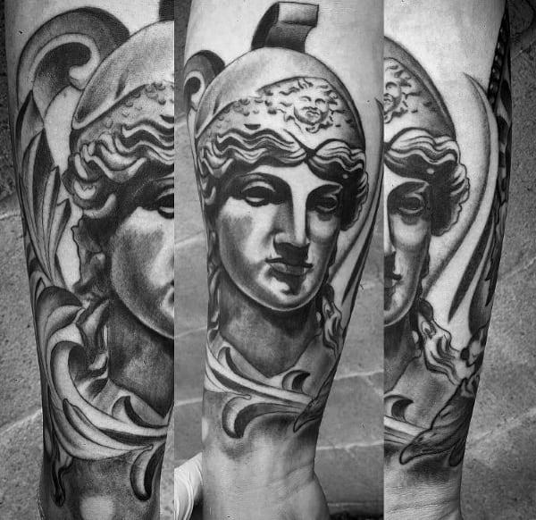 Athena Tattoos For Gentlemen