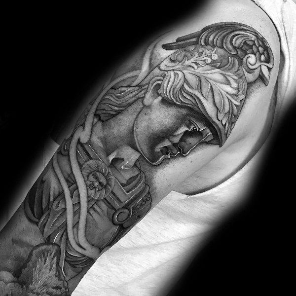 Athena Themed Tattoo Design Inspiration