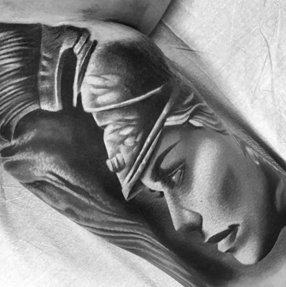 Athena Themed Tattoo Ideas For Men