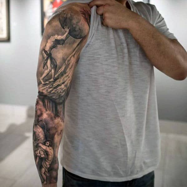 70 unique sleeve tattoos for men aesthetic ink design ideas. Black Bedroom Furniture Sets. Home Design Ideas