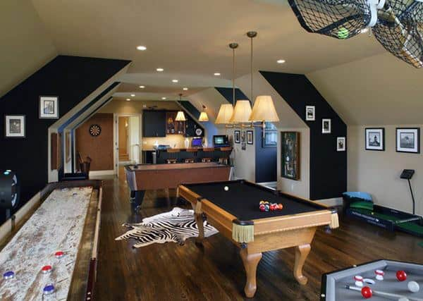 Attic Game Room Ideas For Guys
