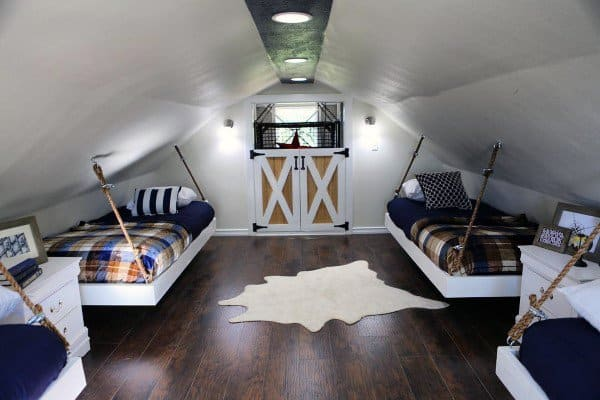 Attic Hanging Bed Ideas