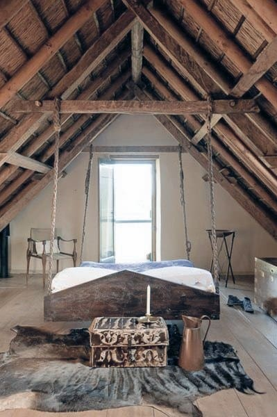Attic Vintage Hanging Bed Ideas
