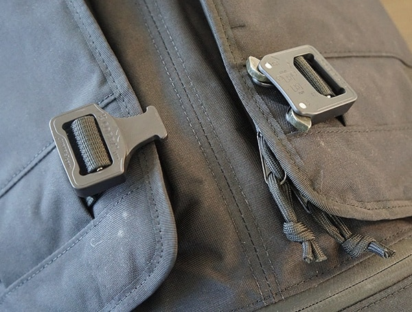 Austialpin Cobra Quick Release Buckles Unlatched Mission Workshop The Rhake Backpack Front