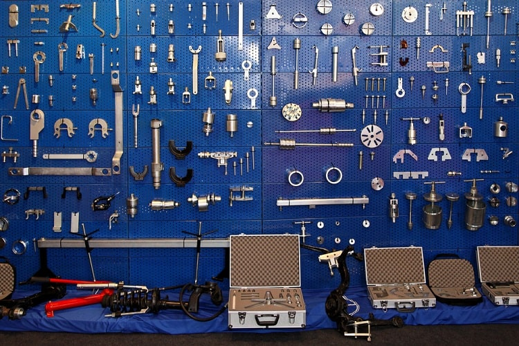 Auto Repair Garage Wall Pegboard Ideas