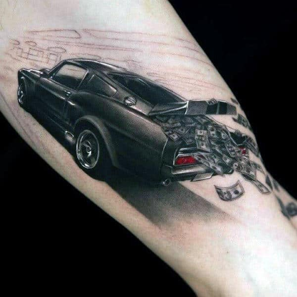 70 Car Tattoos For Men - Cool Automotive Design Ideas