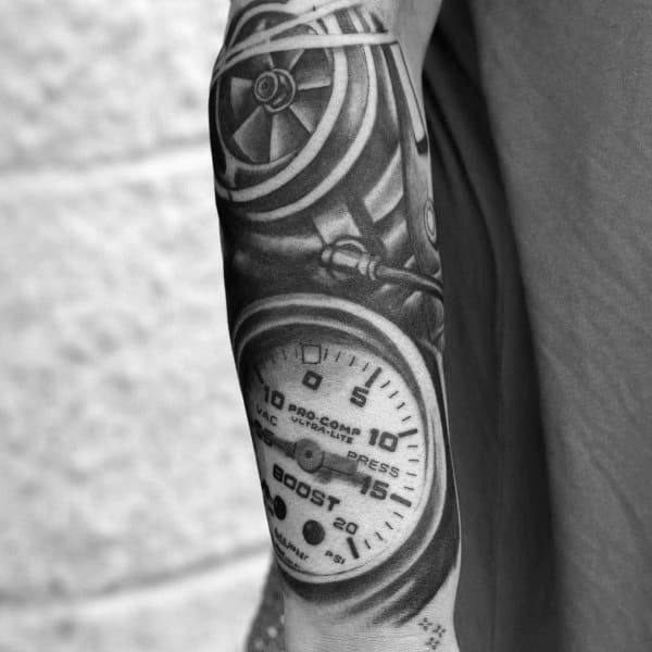 Automotive Turbocharger Male Tattoos