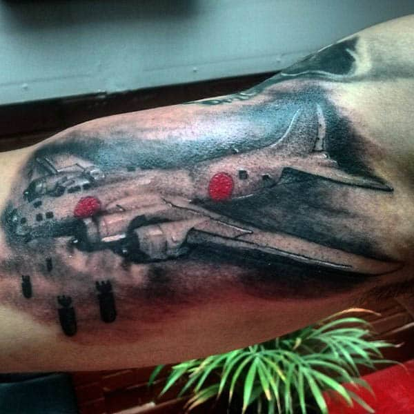 Aviation Tattoos For Males On Bicep