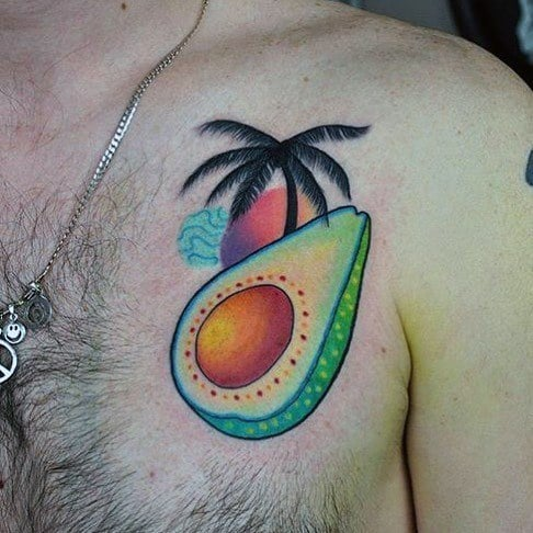 Avocado Mens Tattoo Designs