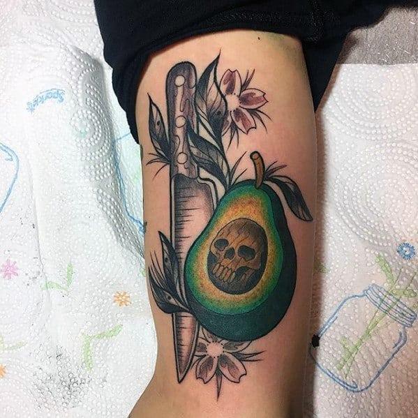 Avocado Mens Tattoo Ideas