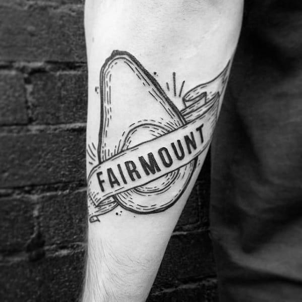 Avocado Tattoo Design On Man