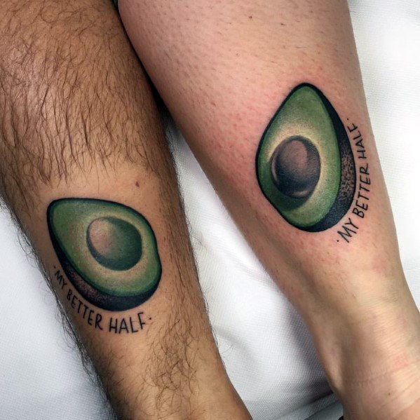 Avocado Tattoo On Men