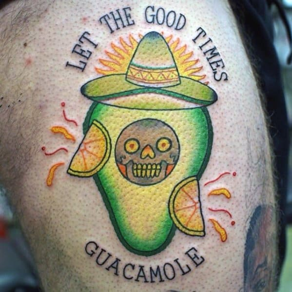 Avocado Tattoos Male
