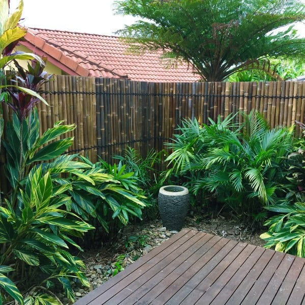 Awesome Bamboo Privacy Fence Ideas For Backyard - Top 50 Best Bamboo Fence Ideas - Backyard Privacy Designs