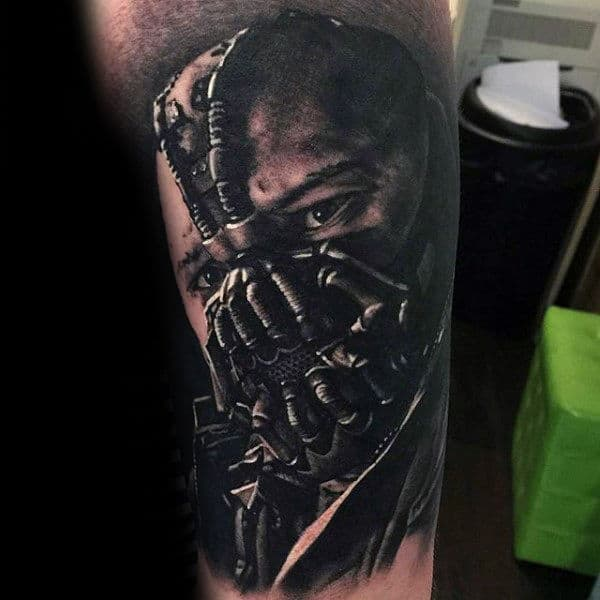 Awesome Bane Male Half Sleeve Tattoos
