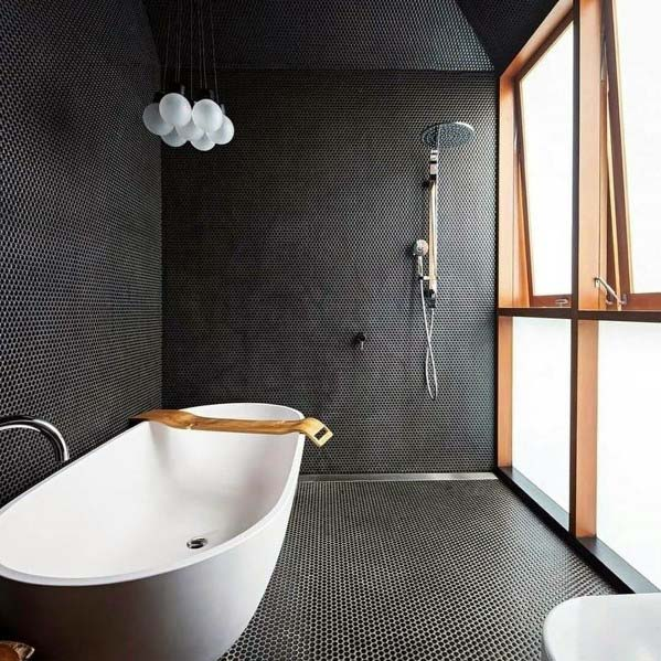 Awesome Bathroom Ideas Black Color