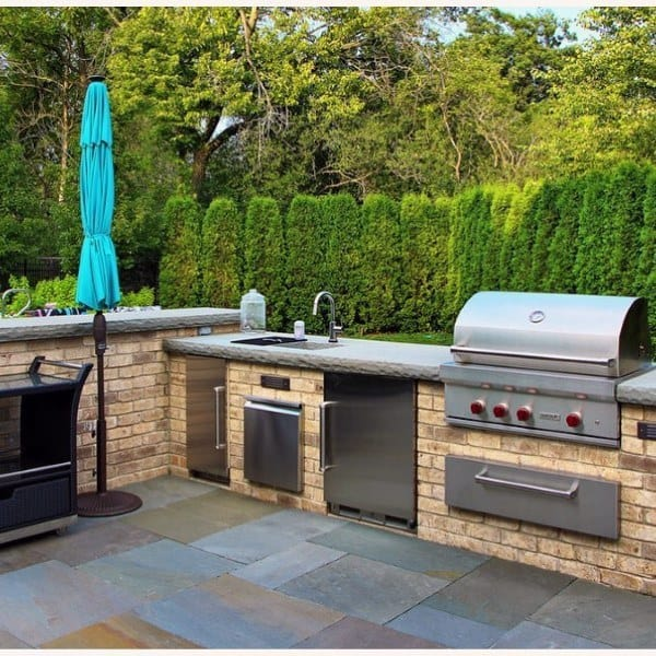 Backyard Kitchen Garden Design: Top 60 Best Outdoor Kitchen Ideas