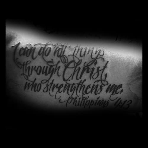 Awesome Bicep Philippians 4 13 Male Tattoo Ideas