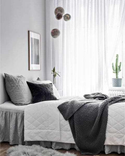 Awesome Black And Grey Bedroom Ideas Top 60 Best  Neutral Interior Designs
