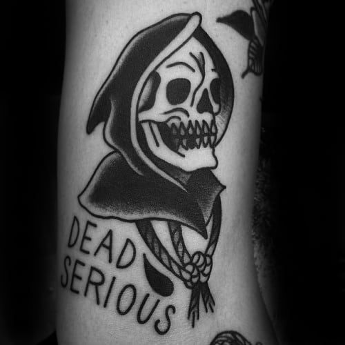 50 Traditional Reaper Tattoo Designs For Men – Grim Ink Ideas