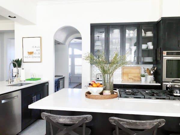 Top 50 Best Black Kitchen Cabinet Ideas