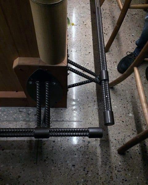 Awesome Black Rebar Bar Foot Rail Ideas