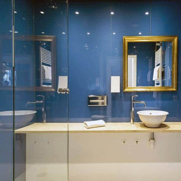 Top 50 best blue bathroom ideas navy themed interior designs - Blue bathroom ideas pictures ...