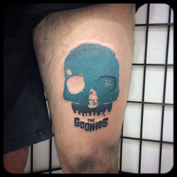 Awesome Blue Skull Goonies Tattoo