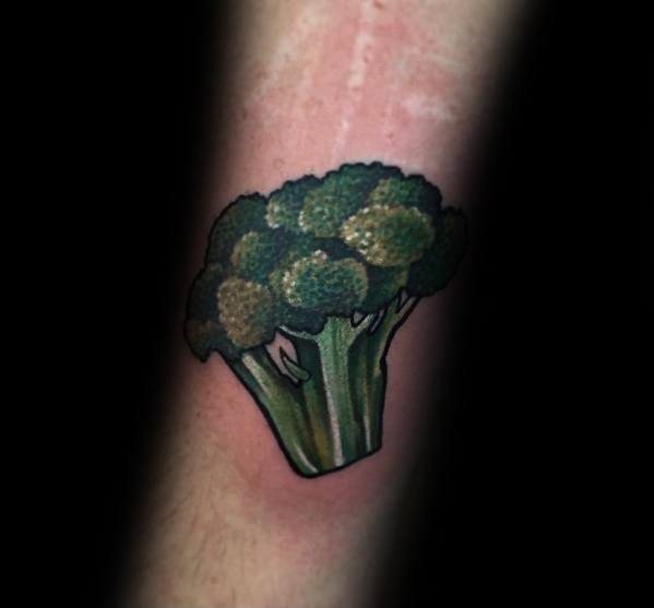 Awesome Broccoli Tattoos For Men On Forearm