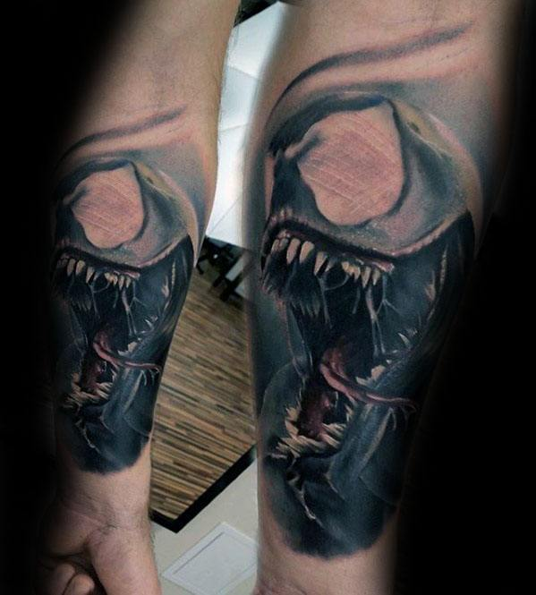 Awesome Carnage Tattoos For Men Forearm Sleeve