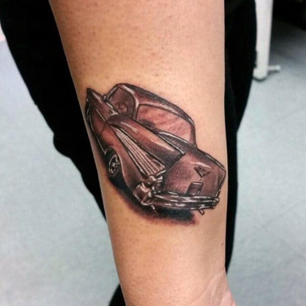 Awesome Classic Chevy Car Mens Inner Forearm Tattoo