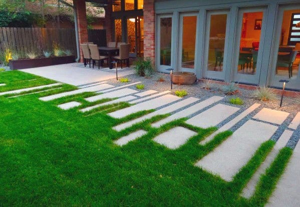 Awesome Concrete Walkway Ideas For Backyard