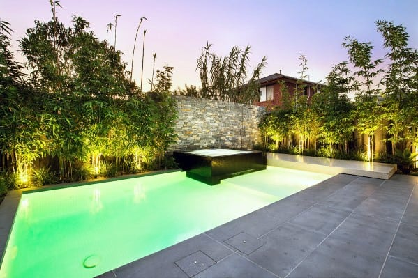 Awesome Contemporary Pool Landscaping Ideas
