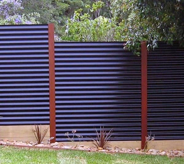 Awesome Corrugated Steel Privacy Fence Ideas