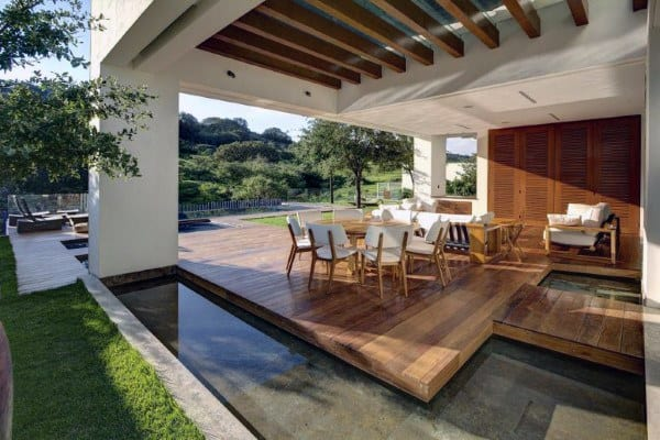Awesome Covered Backyard Deck Ideas