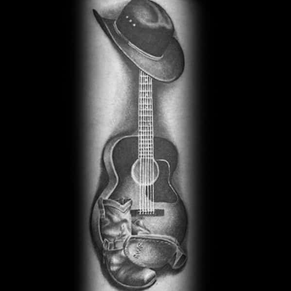 Awesome Cowboy Boot Tattoos For Men