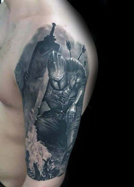 70 dark souls tattoo designs for men video game ideas for Gears of war logo tattoo