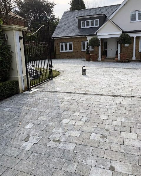 Awesome Driveway Exteiror Ideas Grey Stones